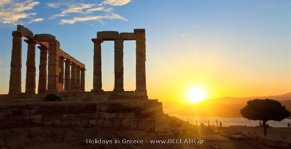 Cape Sounion-The famous temple of Poseidon